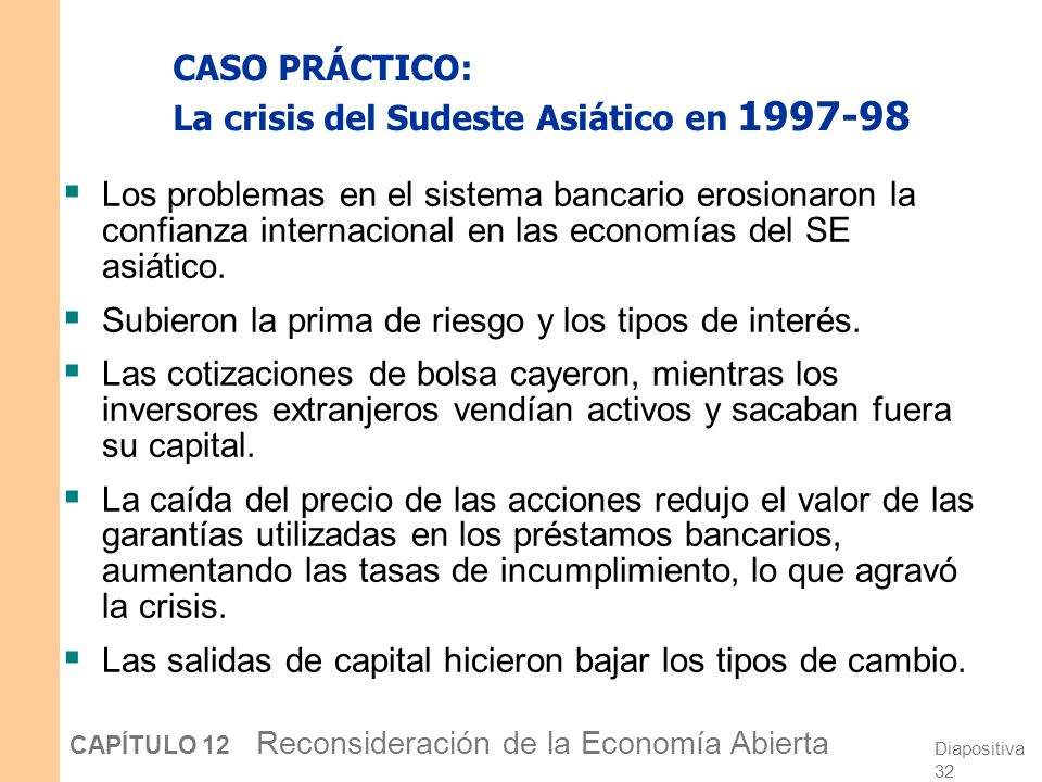 CASO PRÁCTICO: La crisis del Sudeste Asiático en 1997-98