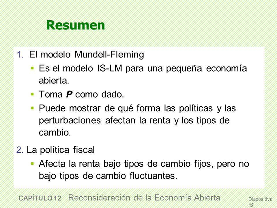 Resumen Es el modelo IS-LM para una pequeña economía abierta.