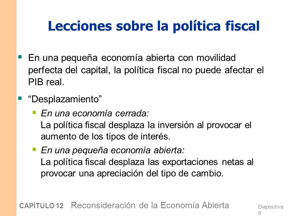 Lecciones sobre la política fiscal