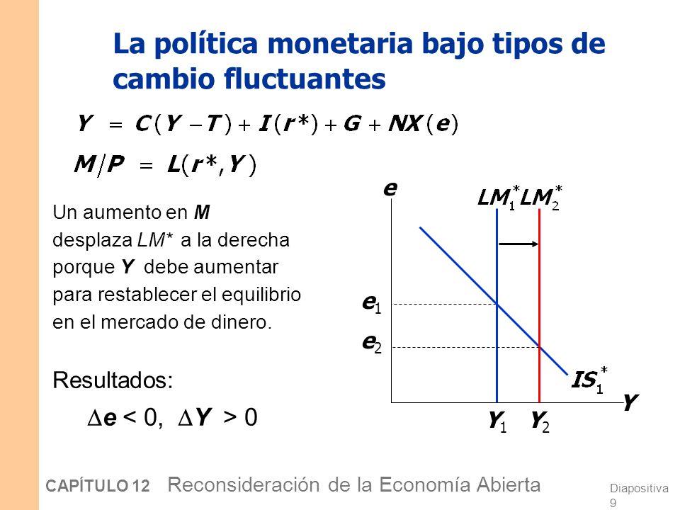 La política monetaria bajo tipos de cambio fluctuantes
