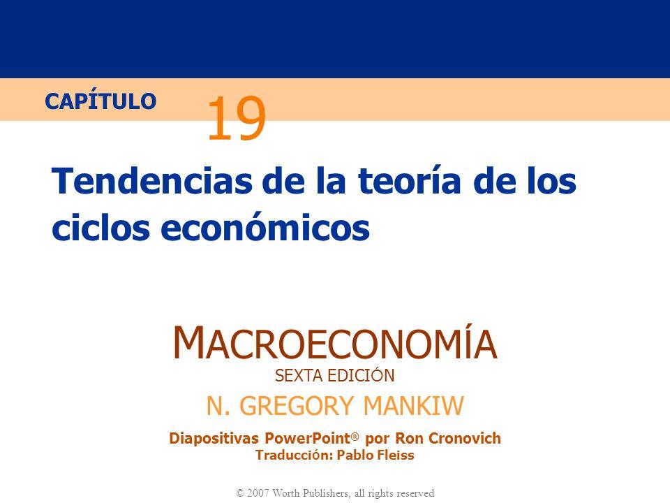 Tendencias de la teoría de los ciclos económicos