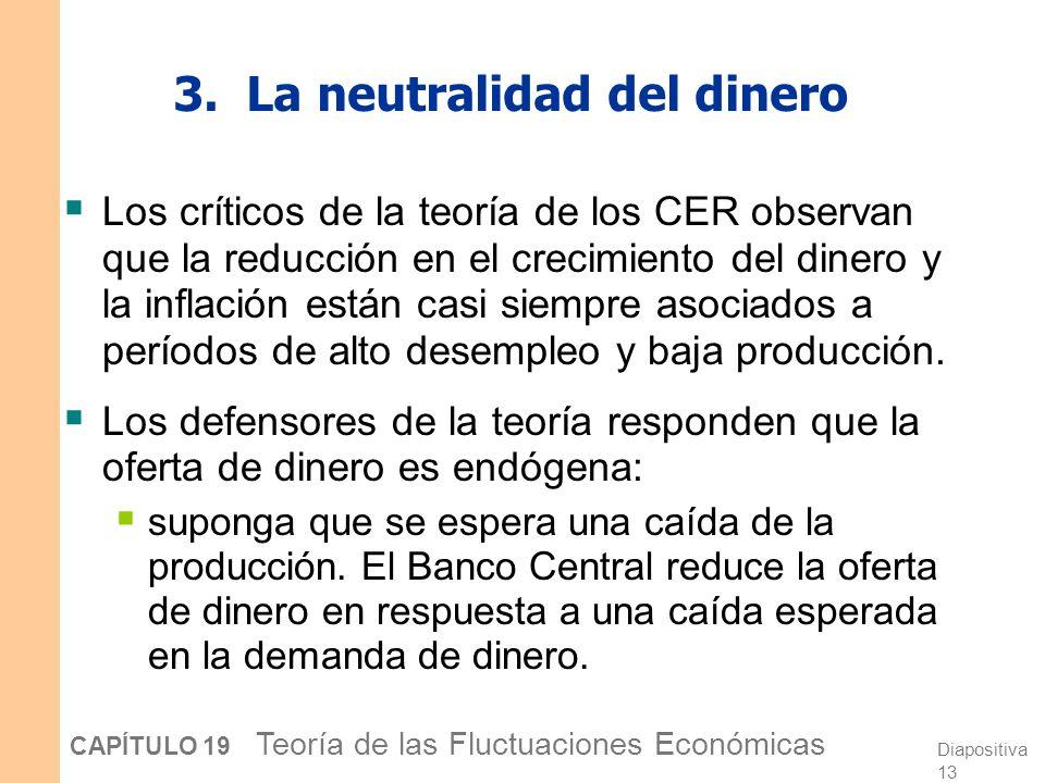 3. La neutralidad del dinero