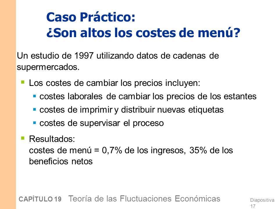 Caso Práctico: ¿Son altos los costes de menú