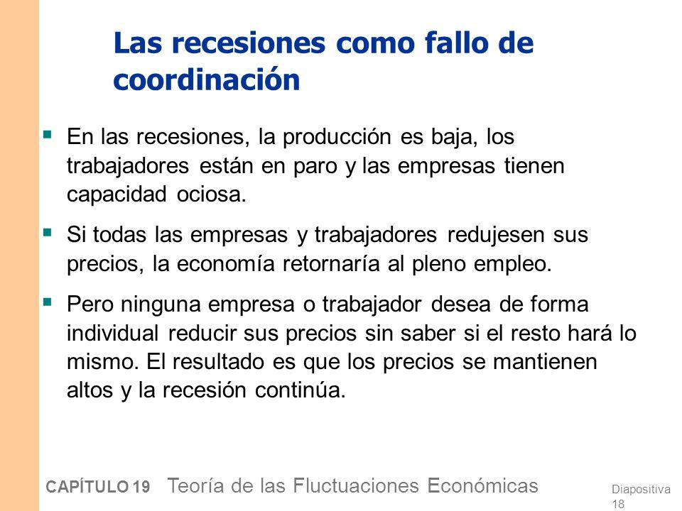 Las recesiones como fallo de coordinación