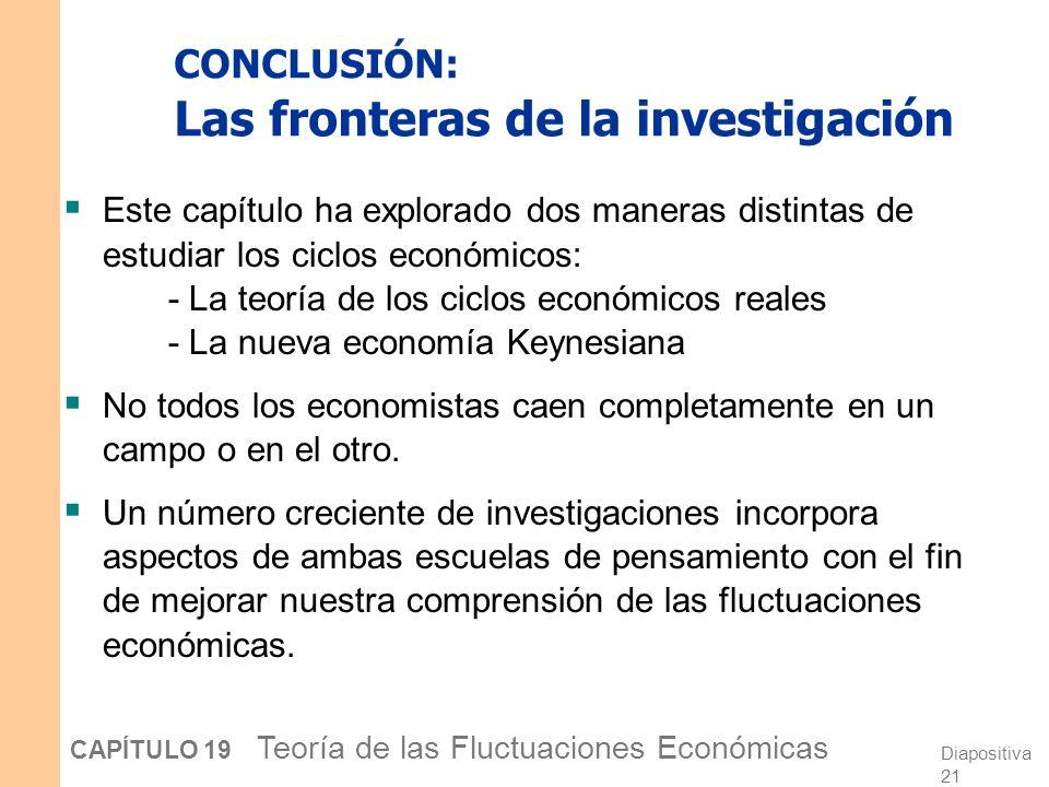 CONCLUSIÓN: Las fronteras de la investigación