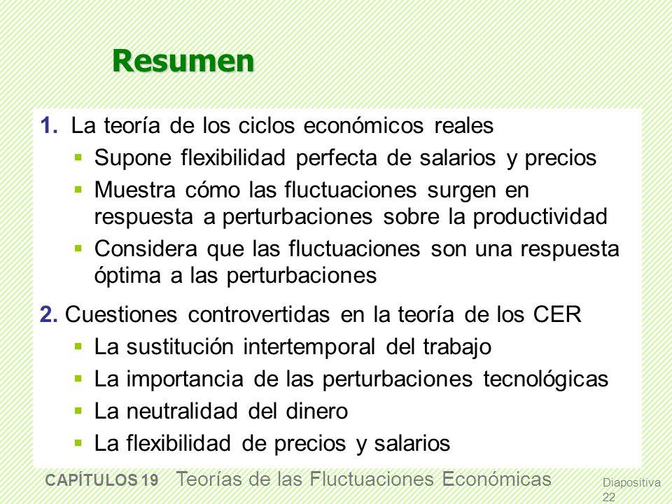 Resumen 1. La teoría de los ciclos económicos reales