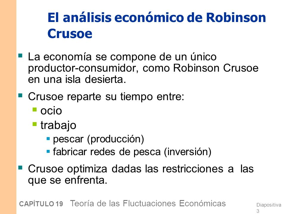 El análisis económico de Robinson Crusoe