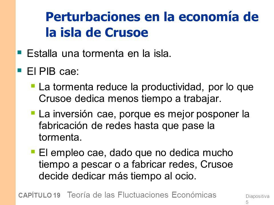 Perturbaciones en la economía de la isla de Crusoe