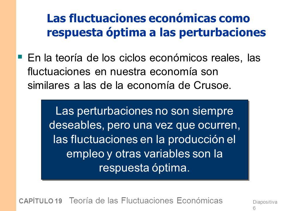 Las fluctuaciones económicas como respuesta óptima a las perturbaciones