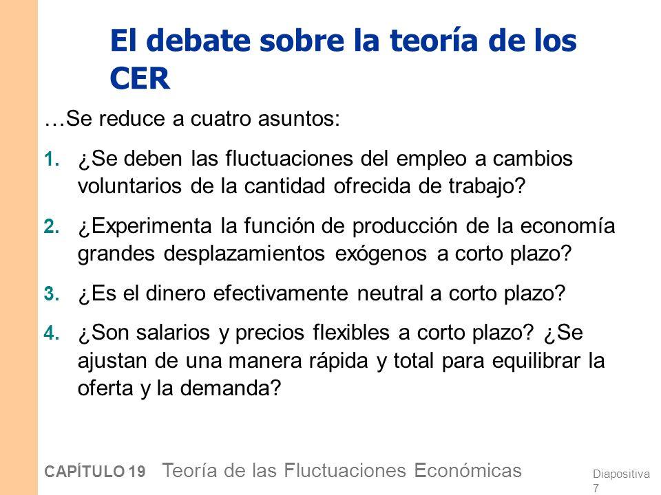 El debate sobre la teoría de los CER
