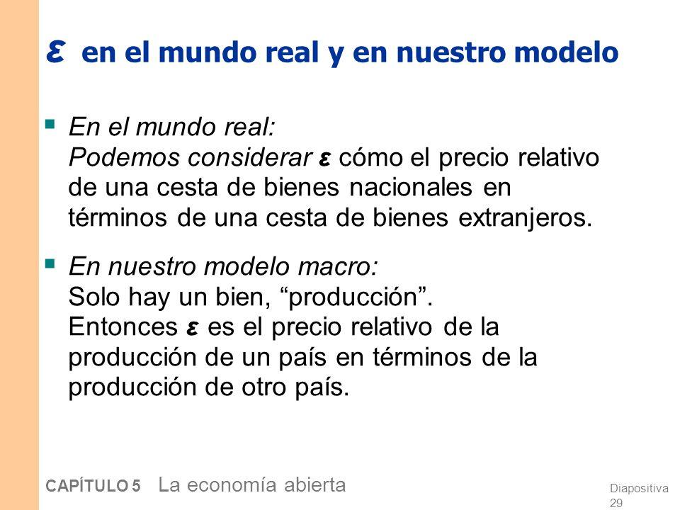 ε en el mundo real y en nuestro modelo