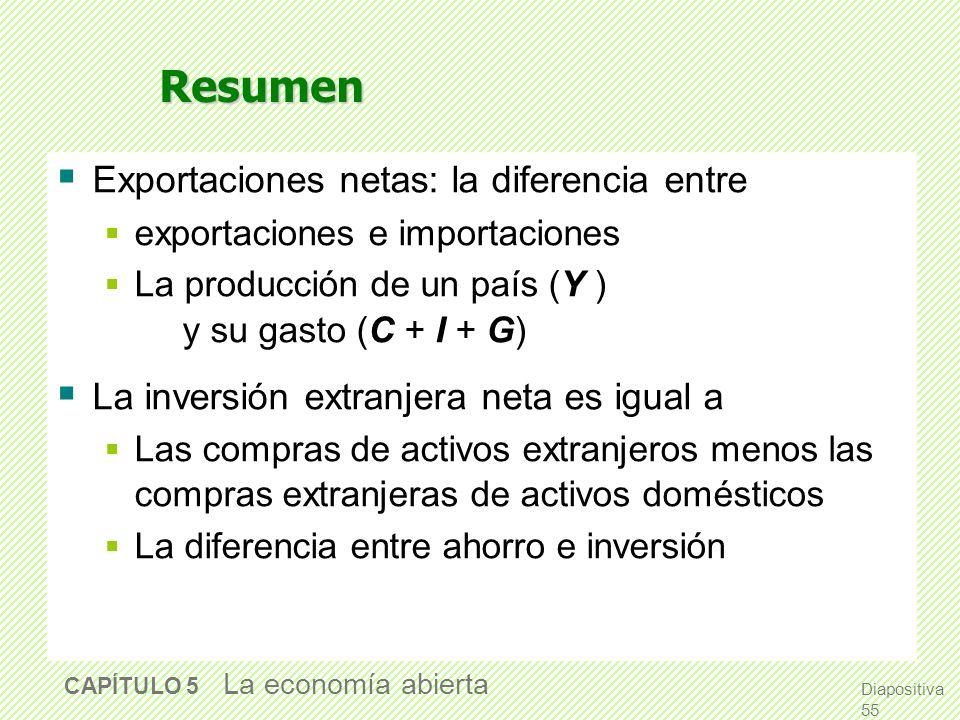 Resumen Exportaciones netas: la diferencia entre