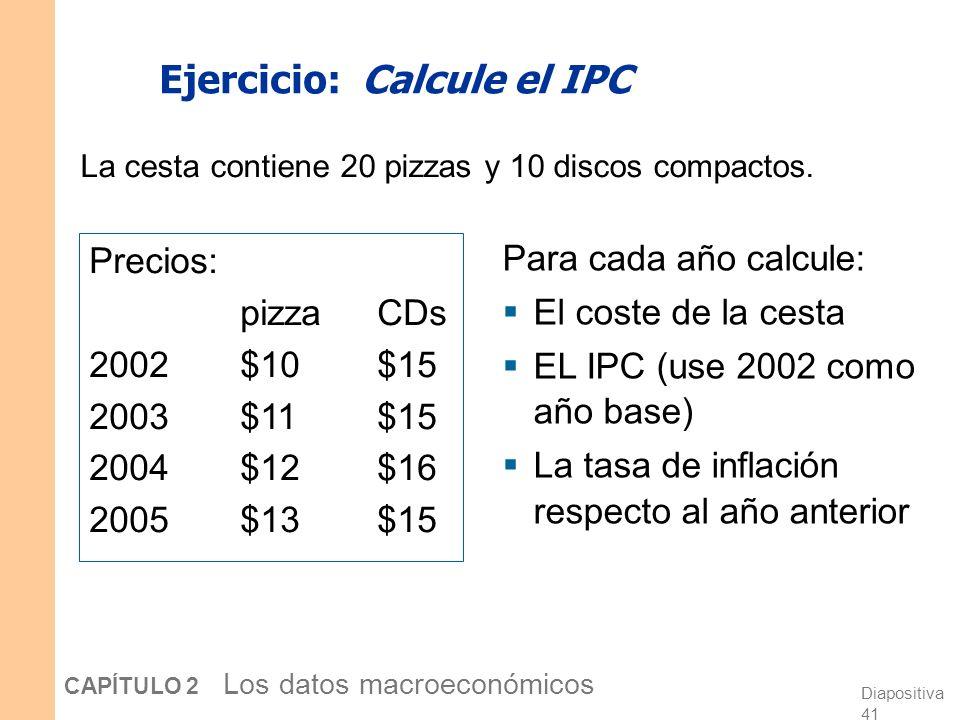 Ejercicio: Calcule el IPC