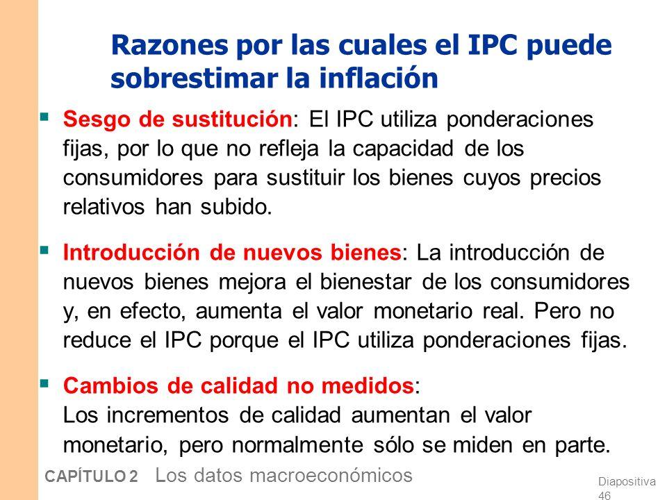 Razones por las cuales el IPC puede sobrestimar la inflación