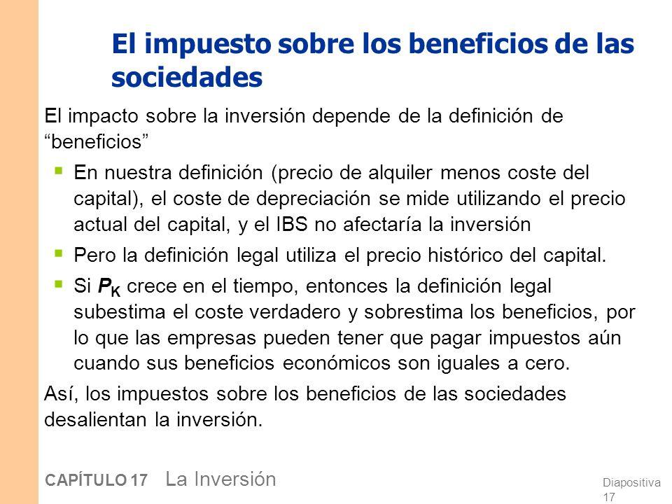El impuesto sobre los beneficios de las sociedades