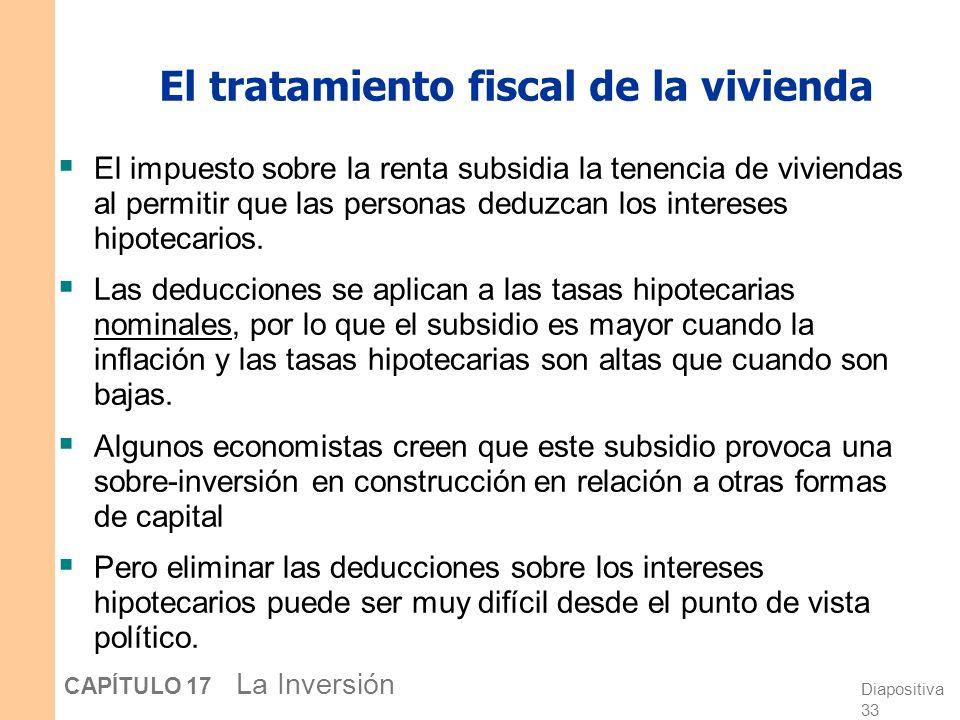 El tratamiento fiscal de la vivienda
