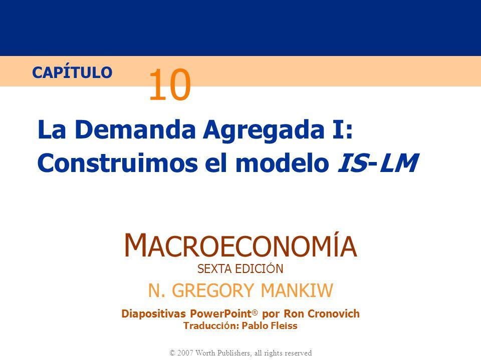 La Demanda Agregada I: Construimos el modelo IS -LM