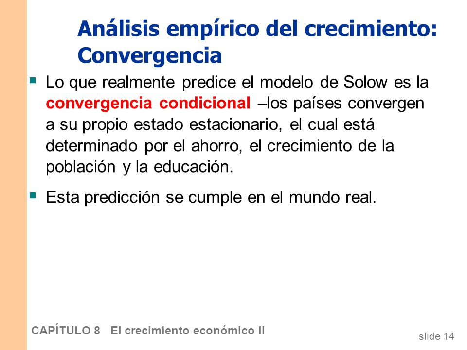 Análisis empírico del crecimiento: Convergencia