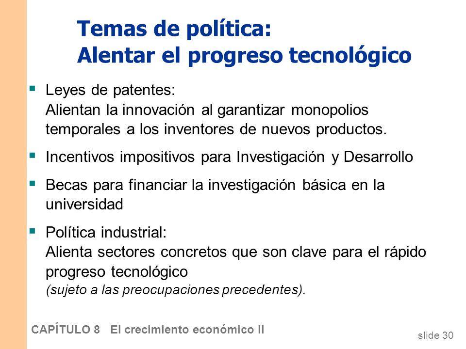 Temas de política: Alentar el progreso tecnológico