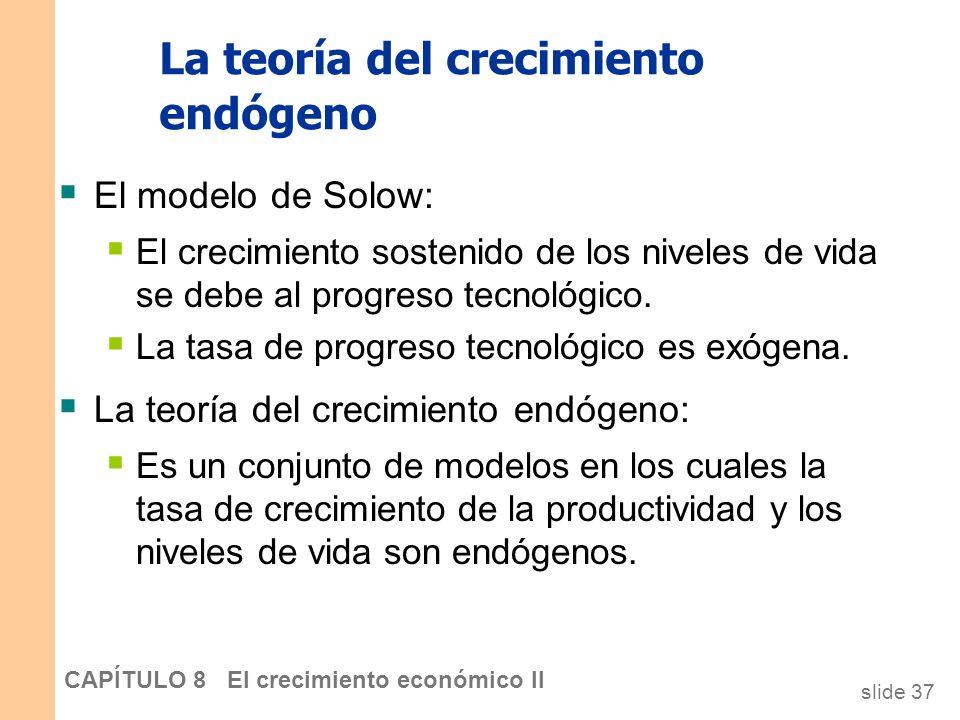 La teoría del crecimiento endógeno
