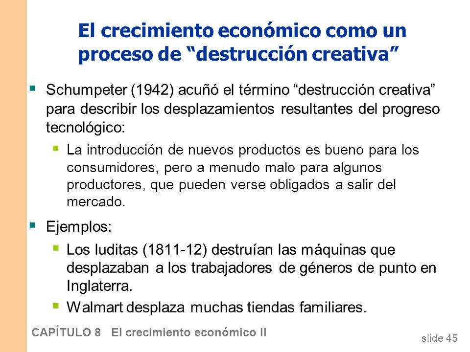El crecimiento económico como un proceso de destrucción creativa