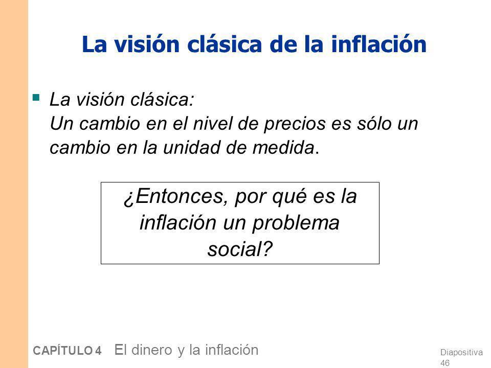 La visión clásica de la inflación