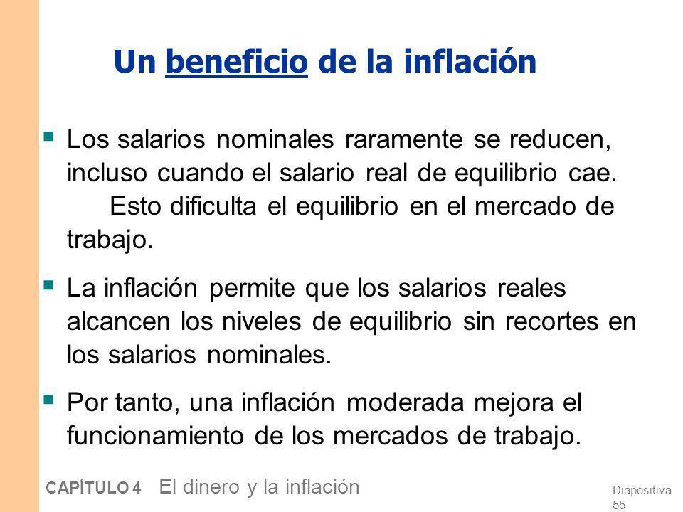 Un beneficio de la inflación