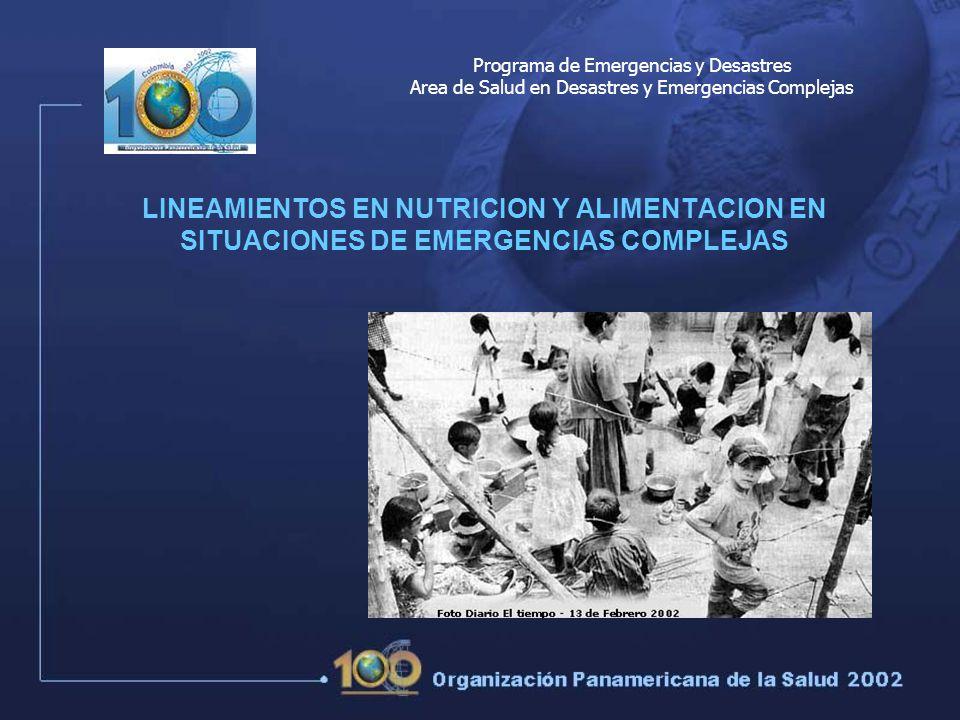 Programa de Emergencias y Desastres