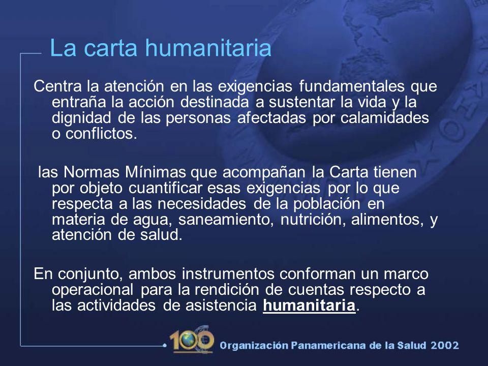 La carta humanitaria