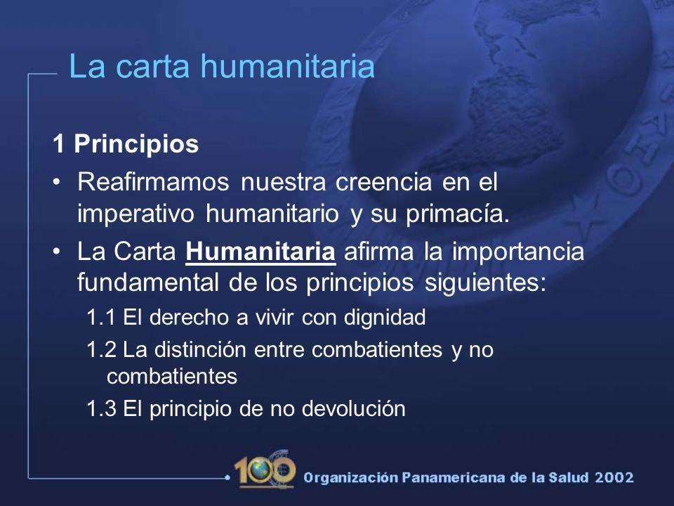 La carta humanitaria 1 Principios