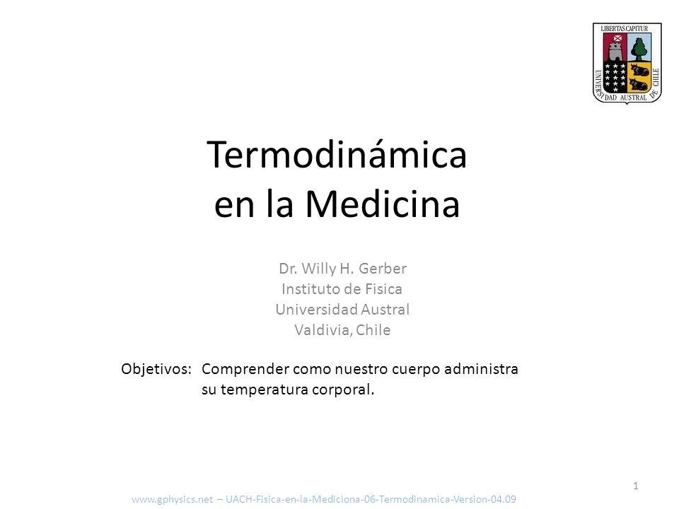 Termodinámica en la Medicina