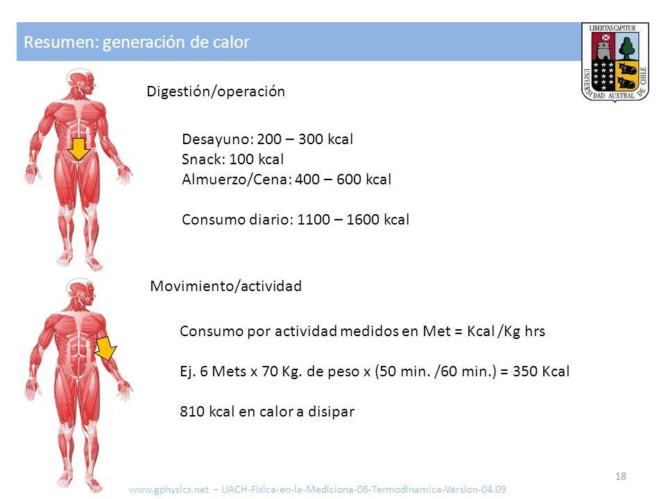 Resumen: generación de calor