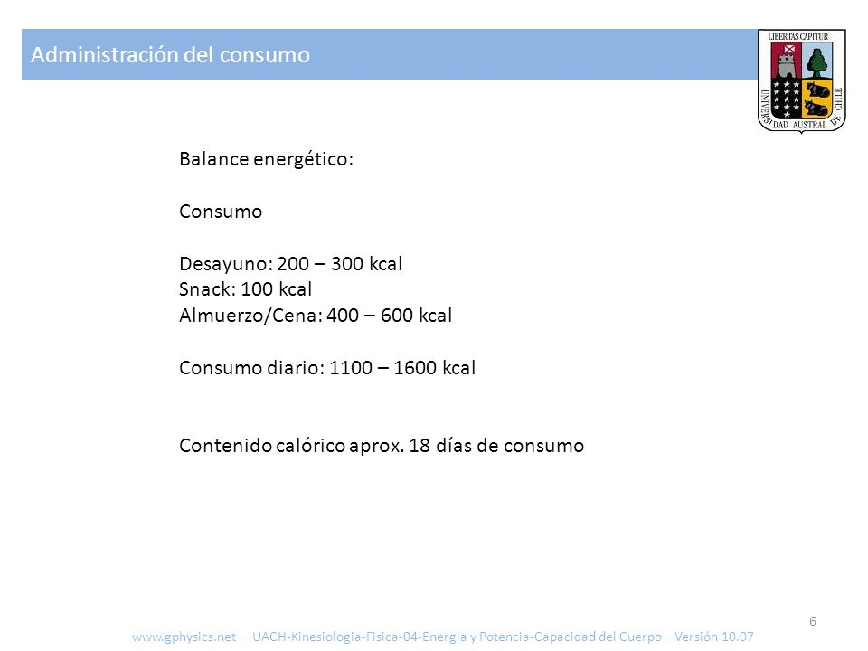 Administración del consumo