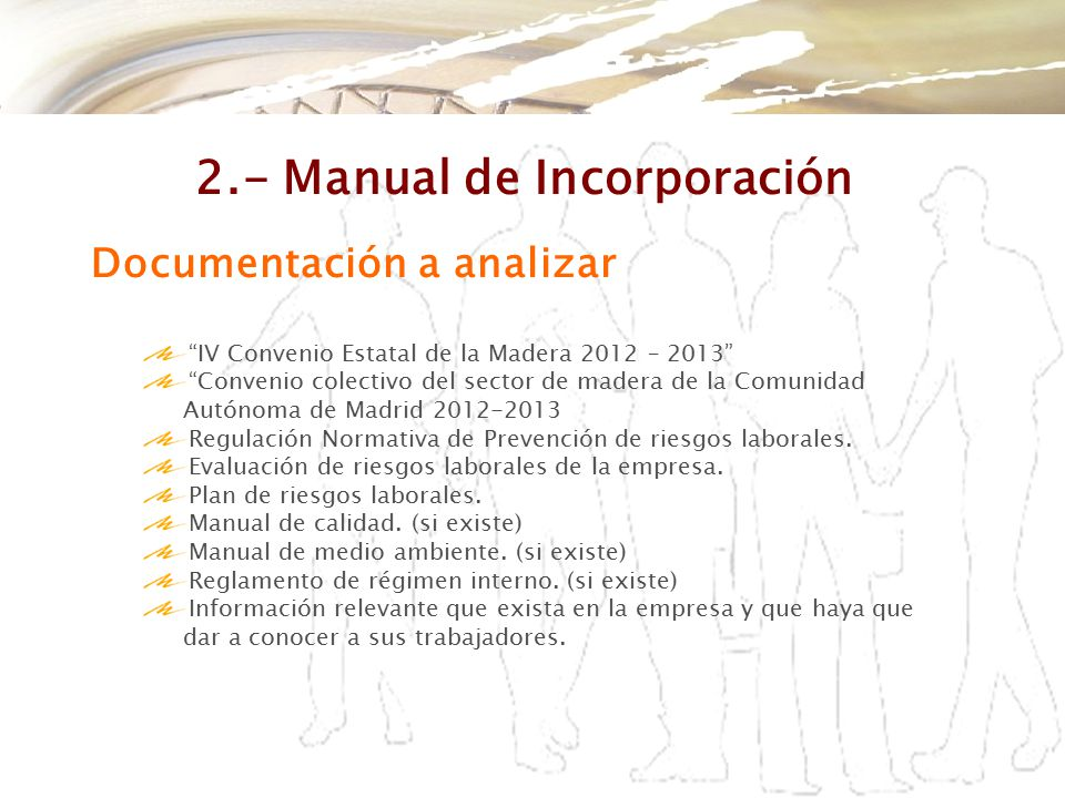 2.- Manual de Incorporación