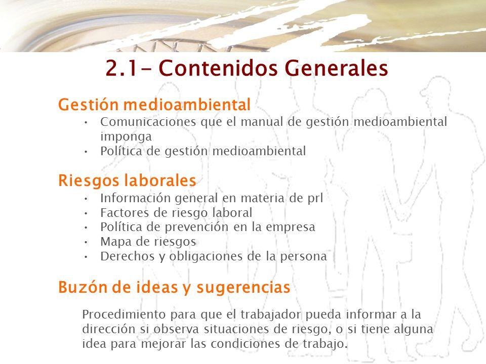 2.1- Contenidos Generales