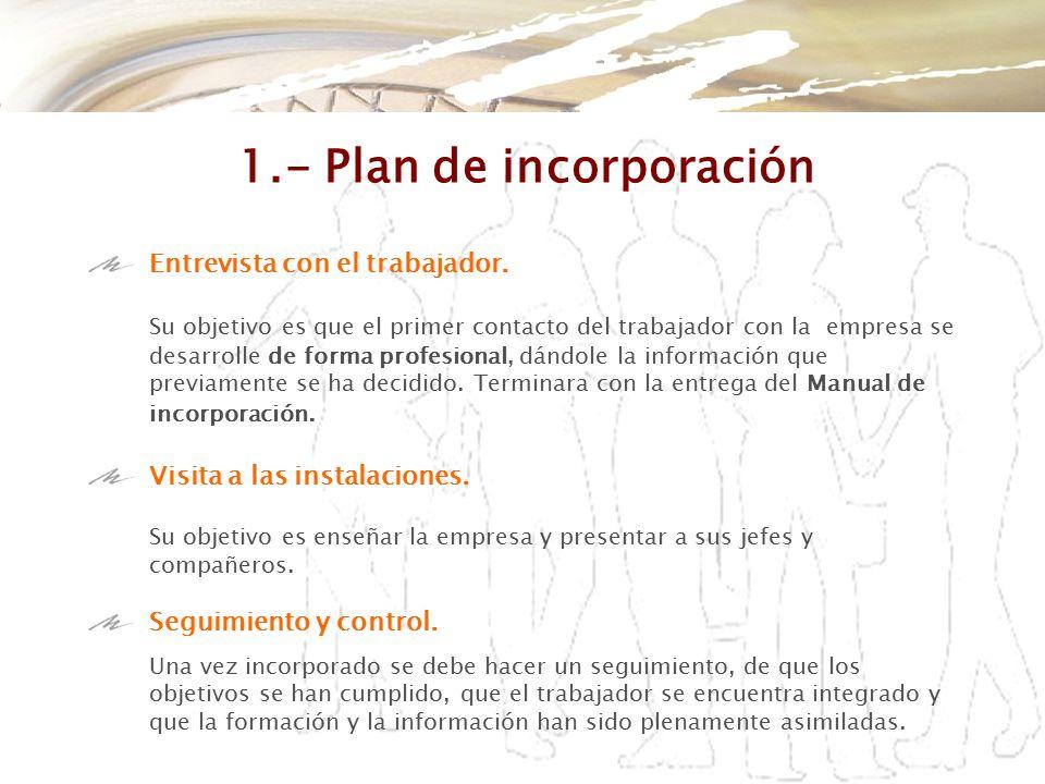 1.- Plan de incorporación