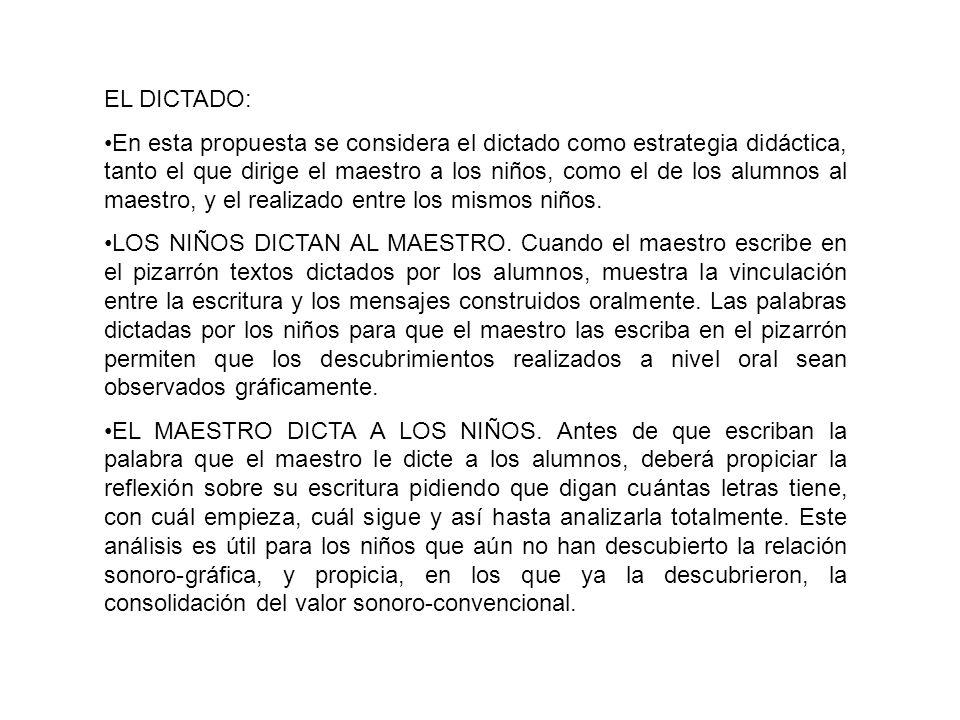 EL DICTADO: