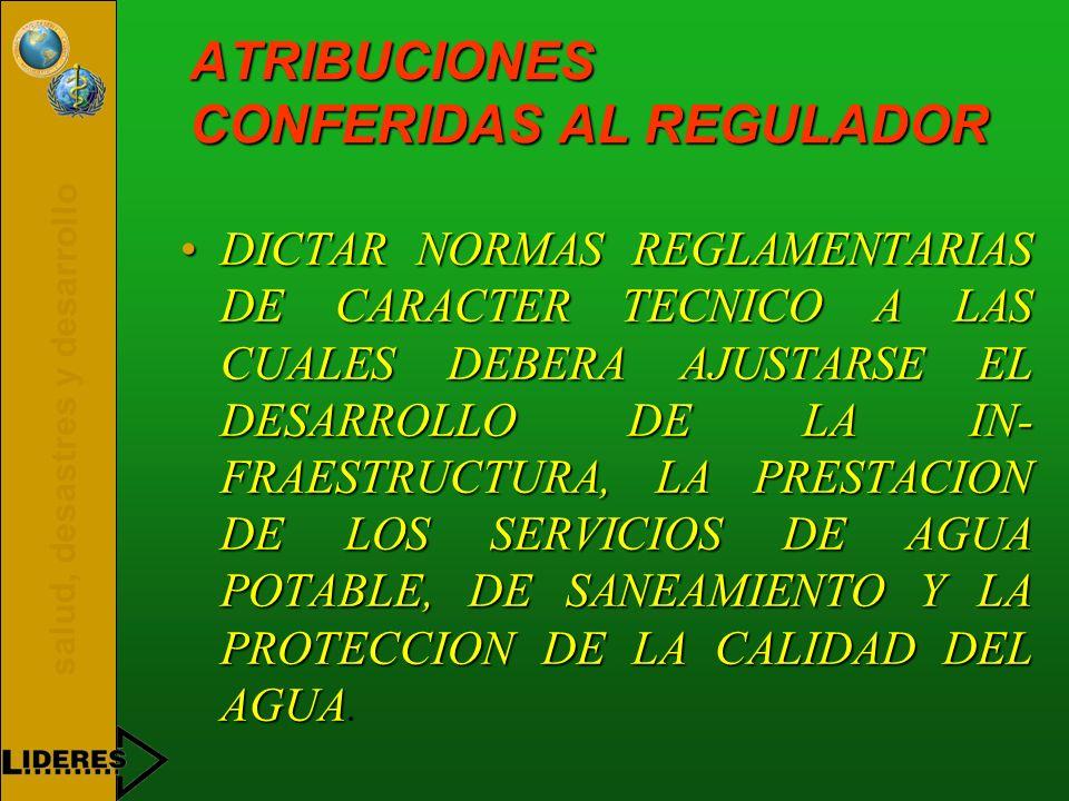 ATRIBUCIONES CONFERIDAS AL REGULADOR