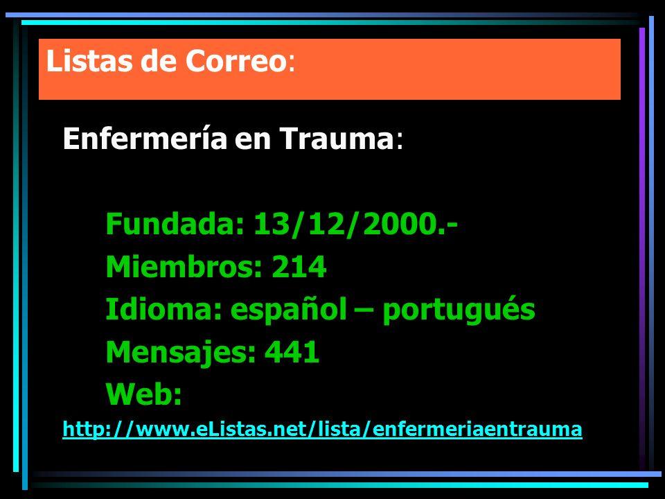 Idioma: español – portugués Mensajes: 441 Web: