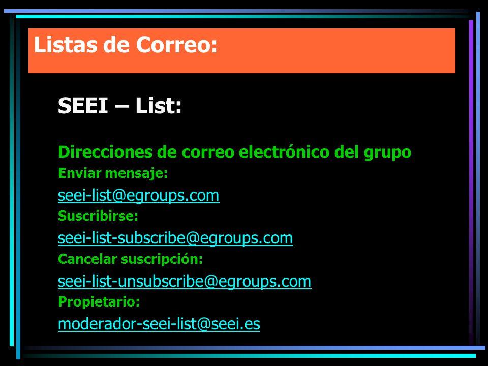 Listas de Correo: SEEI – List:
