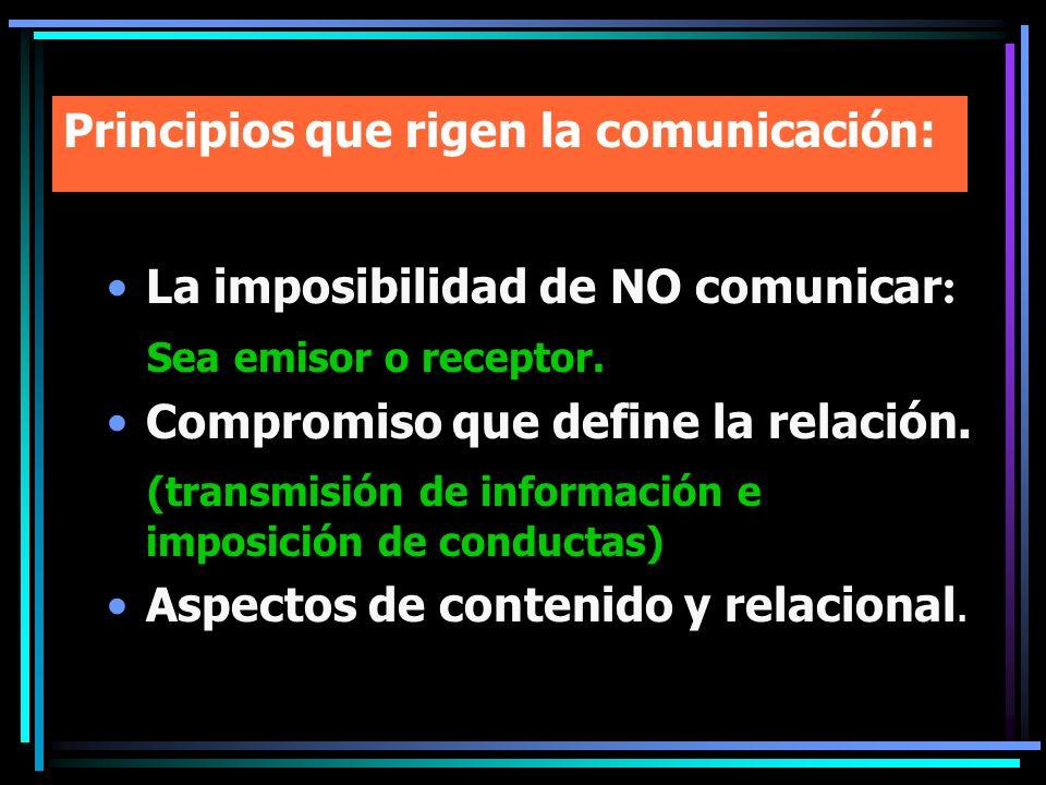 Principios que rigen la comunicación: