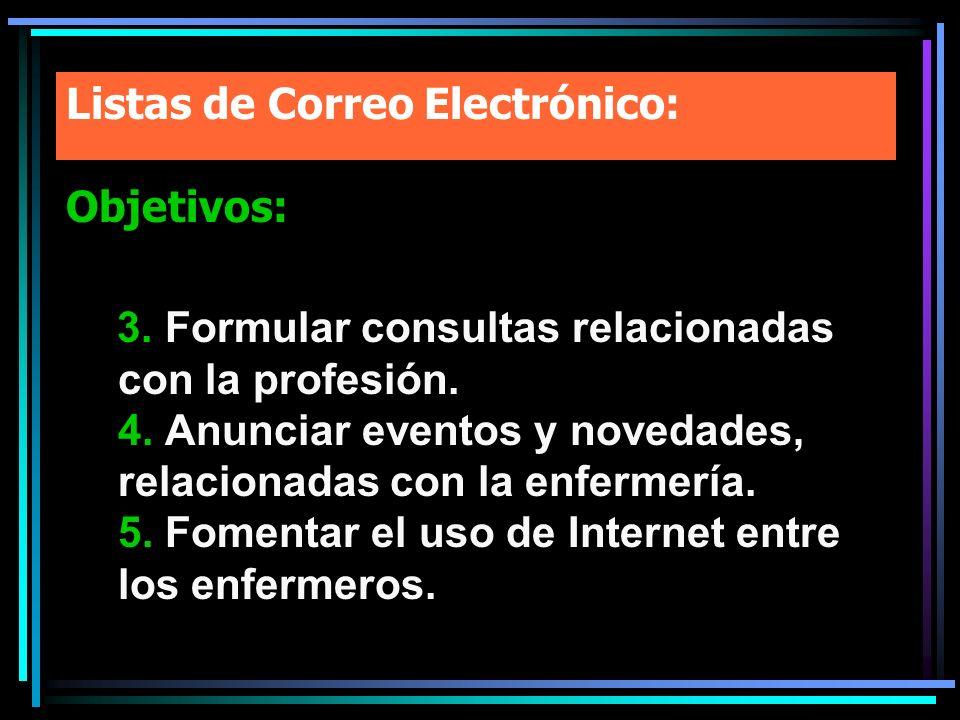Listas de Correo Electrónico: Objetivos: