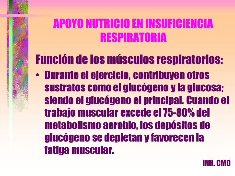 APOYO NUTRICIO EN INSUFICIENCIA RESPIRATORIA
