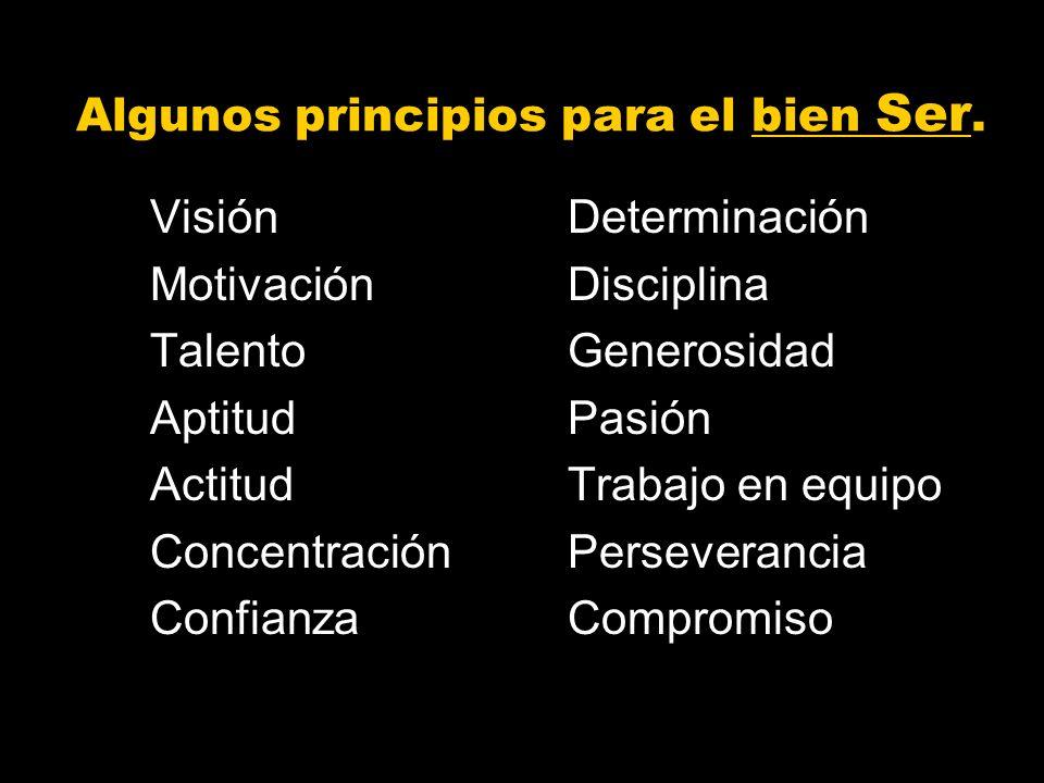 Algunos principios para el bien Ser.