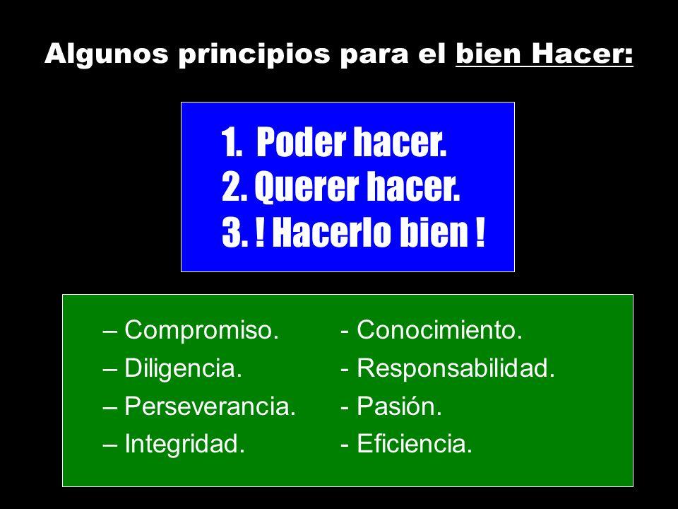 Algunos principios para el bien Hacer: