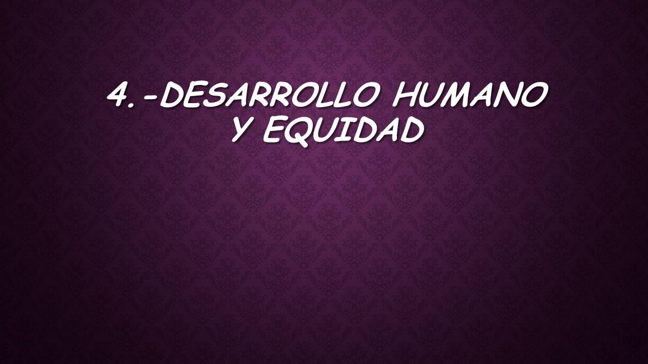 4.-Desarrollo humano y equidad