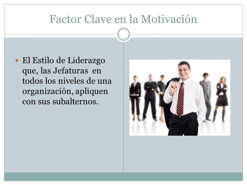 Factor Clave en la Motivación