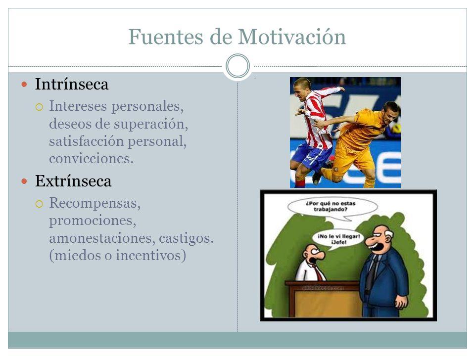 Fuentes de Motivación Intrínseca Extrínseca