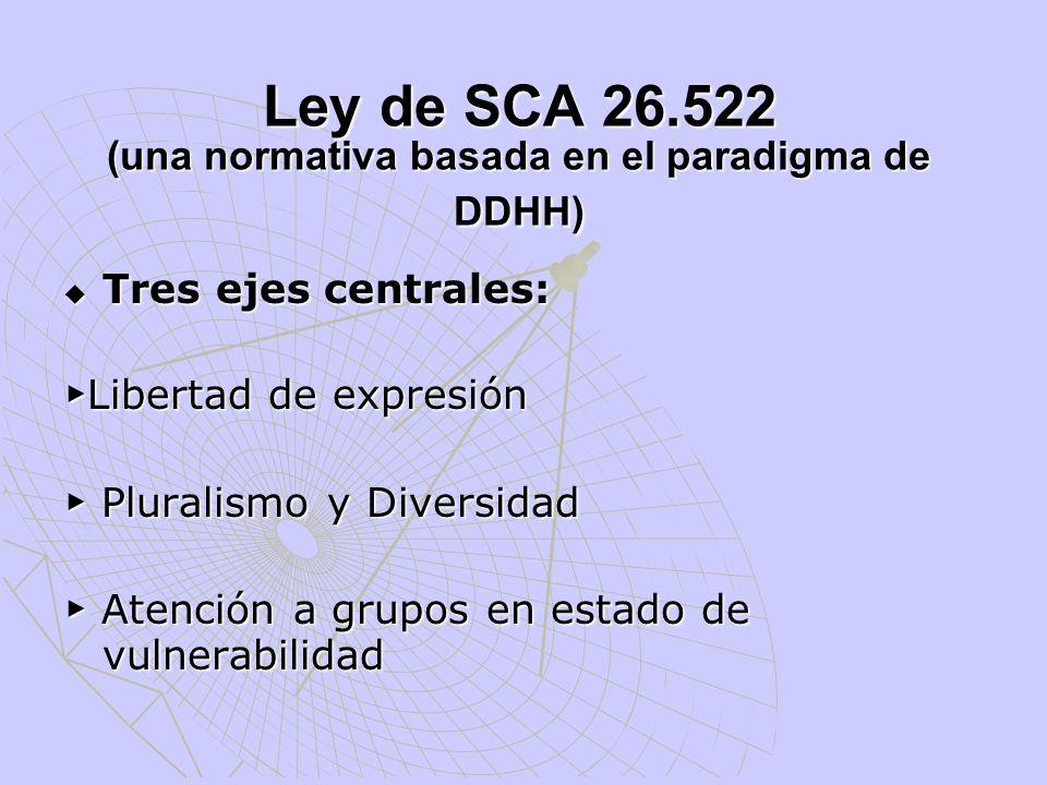 Ley de SCA 26.522 (una normativa basada en el paradigma de DDHH)