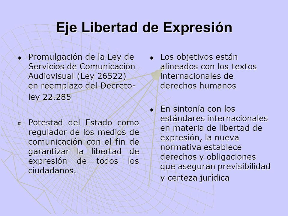 Eje Libertad de Expresión